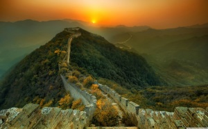Overgrown section of the Great Wall - China